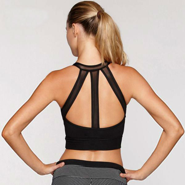 Mesh Back Hollow Out Fitness Top