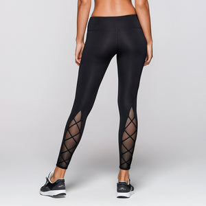 Criss Cross Mesh Panel Leggings