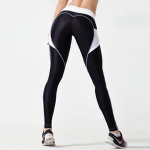 Heart Shape Mesh Fitness Leggings
