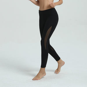 Mesh Fitness Leggings - Black