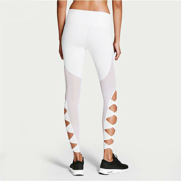 Hollow Out Bow Fitness Leggings