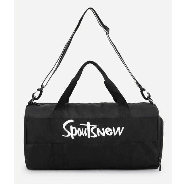 On The Go Gym Bag - Black