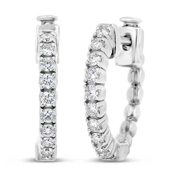 Diamond Hoop Earrings - Pasha Fine Jewelry