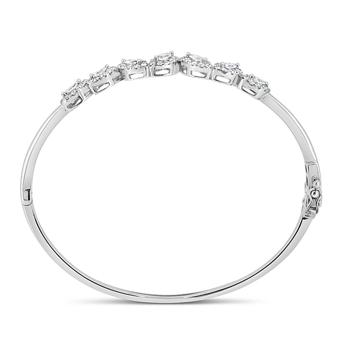 Diamond Evil Eye Bangle - Pasha Fine Jewelry
