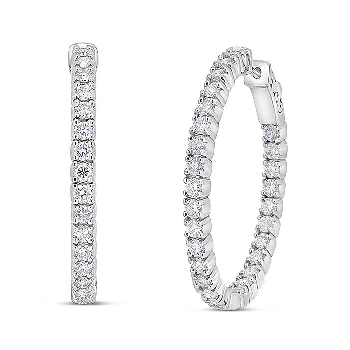 Inside Out Diamond Hoops - Pasha Fine Jewelry