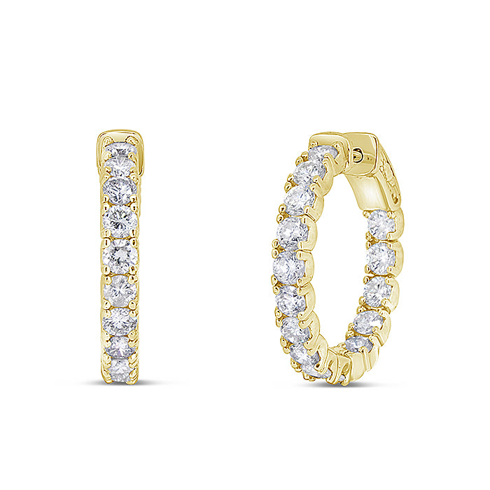 Inside Out Petite Diamond Hoops