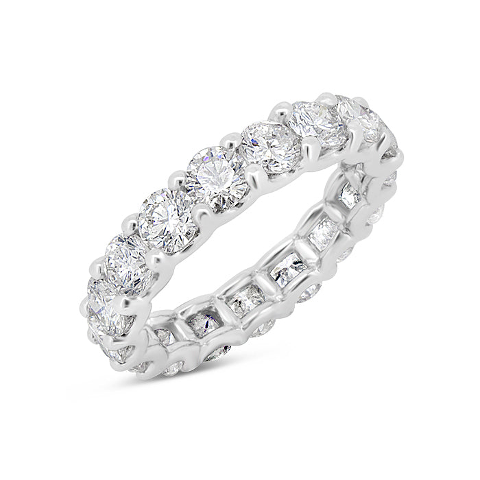 Shared Prong Eternity Band Ring
