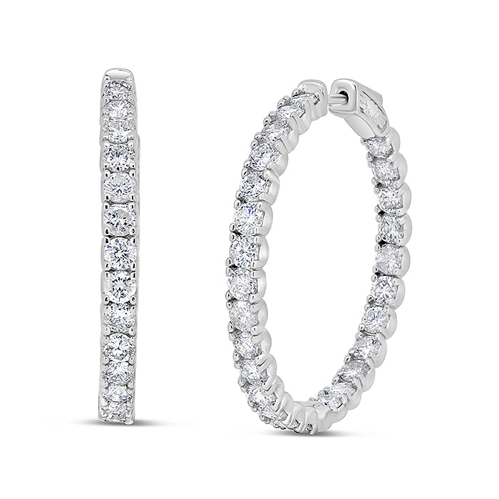 Diamond Eternity Hoops