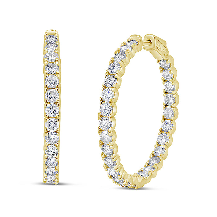 Diamond Eternity Hoops - Pasha Fine Jewelry