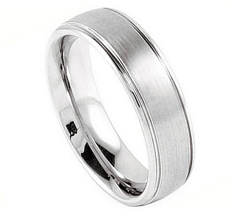 Brushed Center with High Polished Sides - Pasha Fine Jewelry