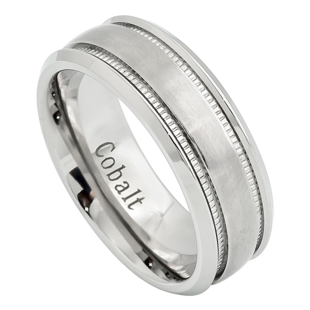 Brushed Milgrain and High Polished Beveled Edge - Pasha Fine Jewelry