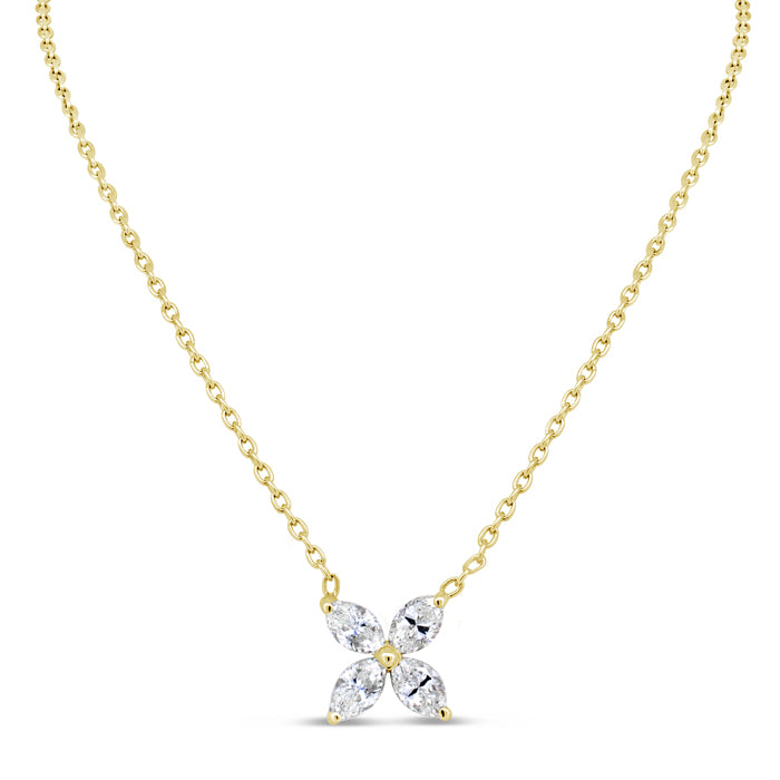 Floral Diamond Necklace