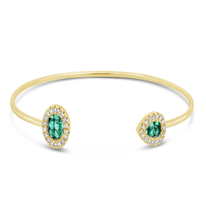 Emerald Arrow Bangle