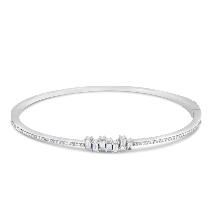 Jagged Diamond Bangle