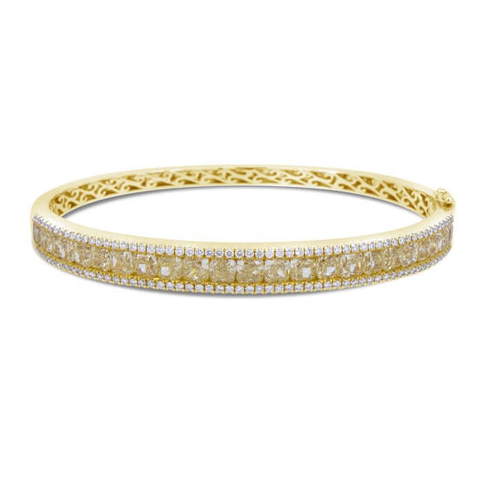 Yellow Diamond Diamond Bangle