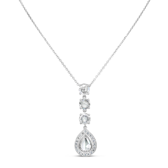 Pear-Shaped Three Stone Necklace