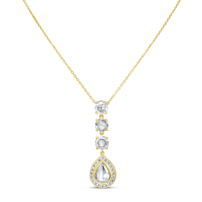 Pear-Shaped Three Stone Necklace - Pasha Fine Jewelry