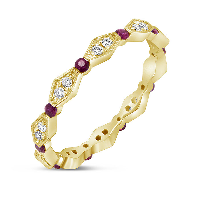 Ruby Eternity Band - Pasha Fine Jewelry