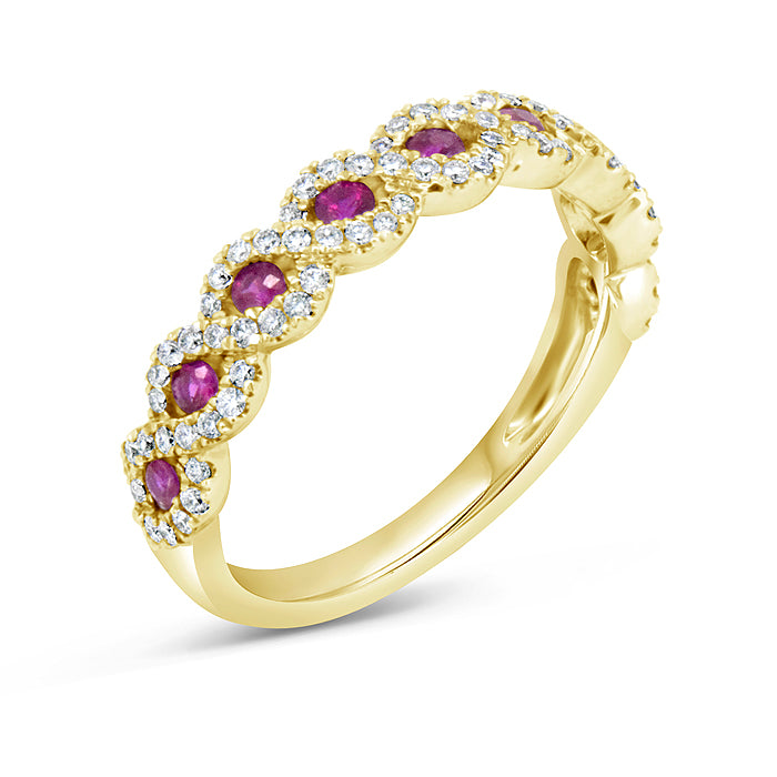 Ruby Eye Diamond Band