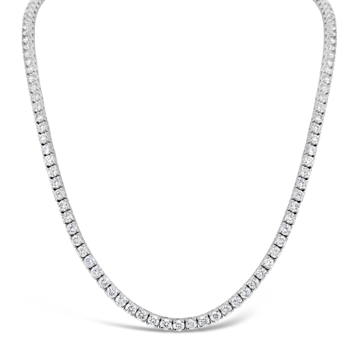 Thin Diamond Tennis Necklace