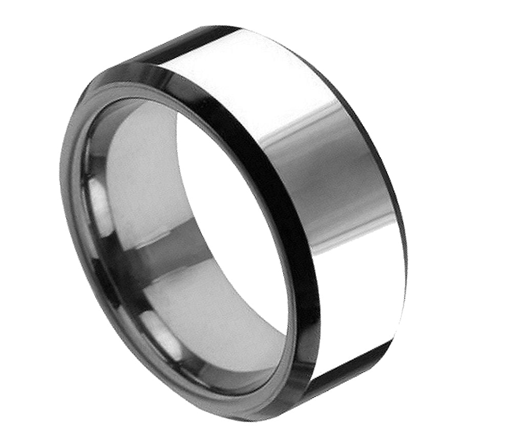 Flat High Polish (only the Beveled Edge is Black Enamel Plated) - Pasha Fine Jewelry