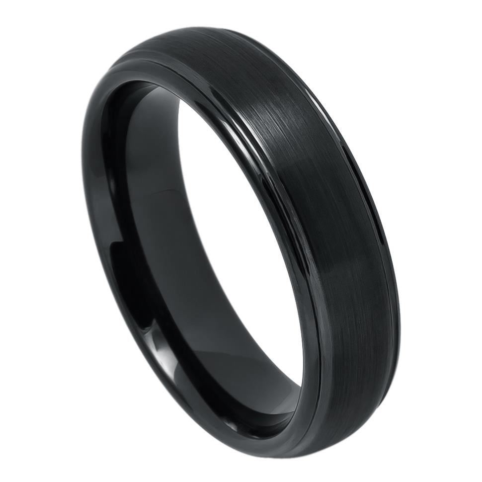 Black Tungsten Brushed - Pasha Fine Jewelry
