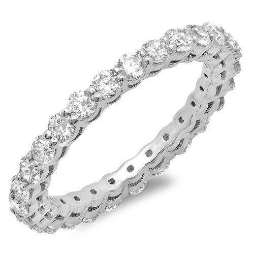 Shared Prong Eternity - Pasha Fine Jewelry