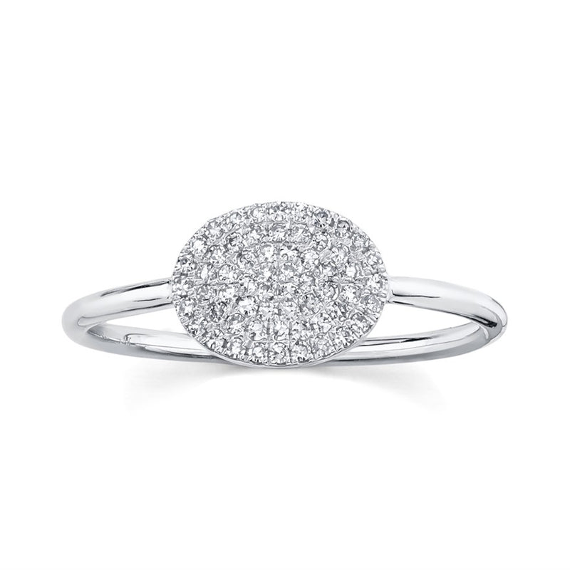 Pave Oval Ring