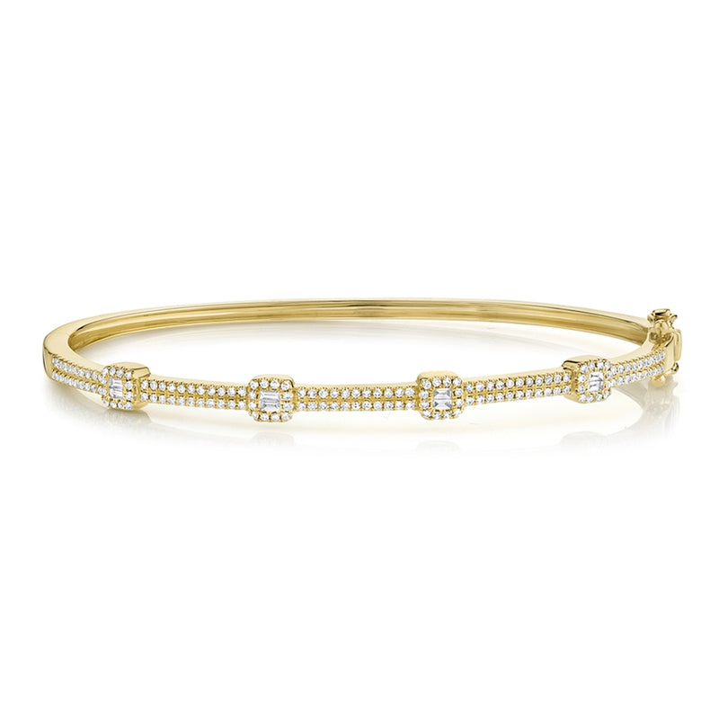 Baguette Bangle - Pasha Fine Jewelry