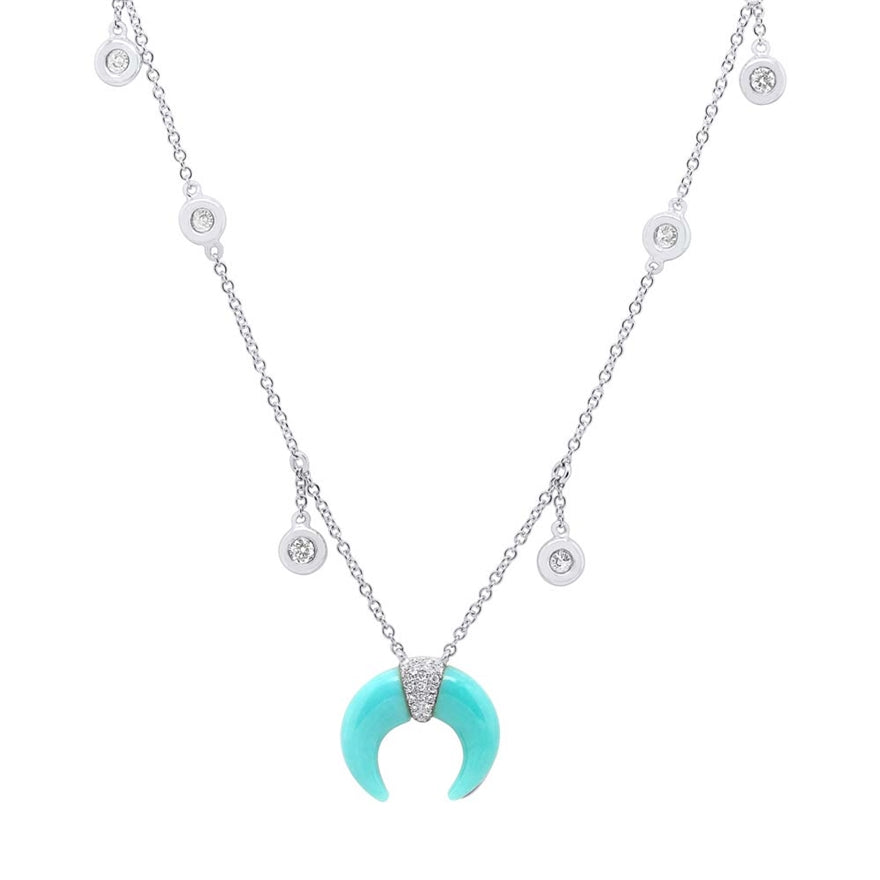 Crescent Turquoise Necklace - Pasha Fine Jewelry