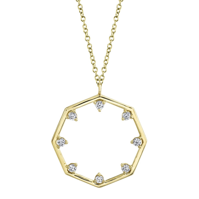 Octagon Necklace - Pasha Fine Jewelry