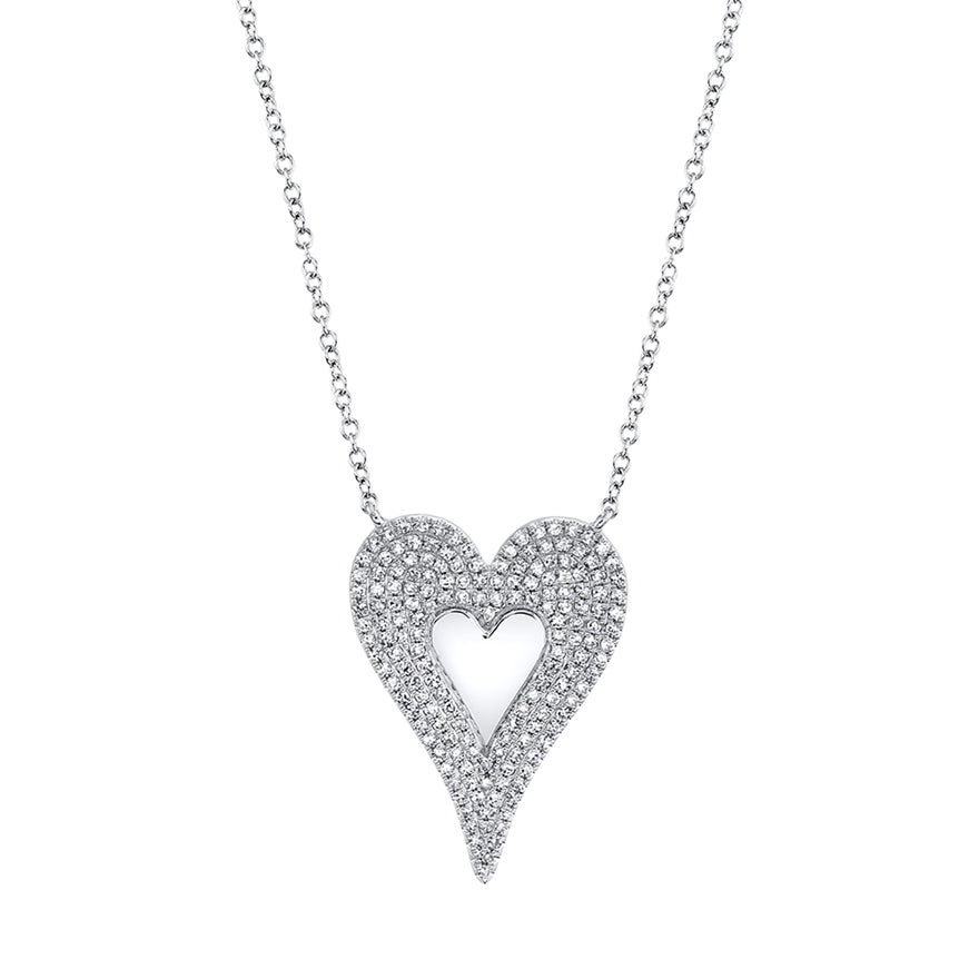 Pave Heart Necklace - Pasha Fine Jewelry