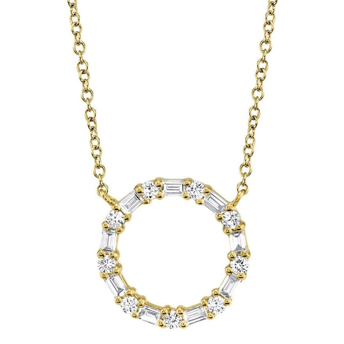 Baguette Circle Necklace - Pasha Fine Jewelry