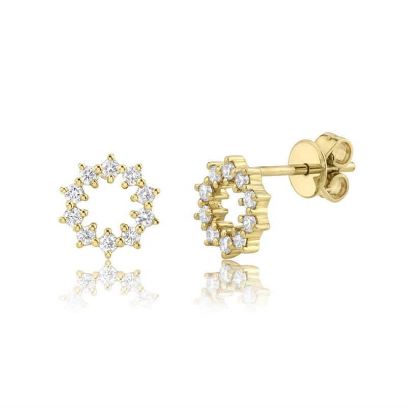 Circle Studs - Pasha Fine Jewelry