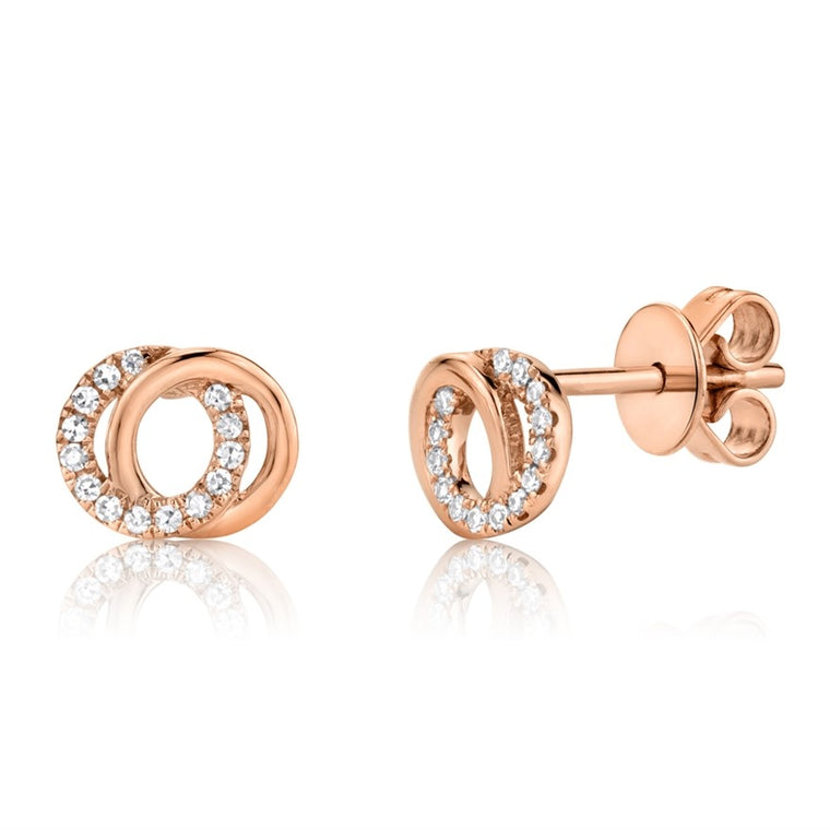 Double Cirlce Studs