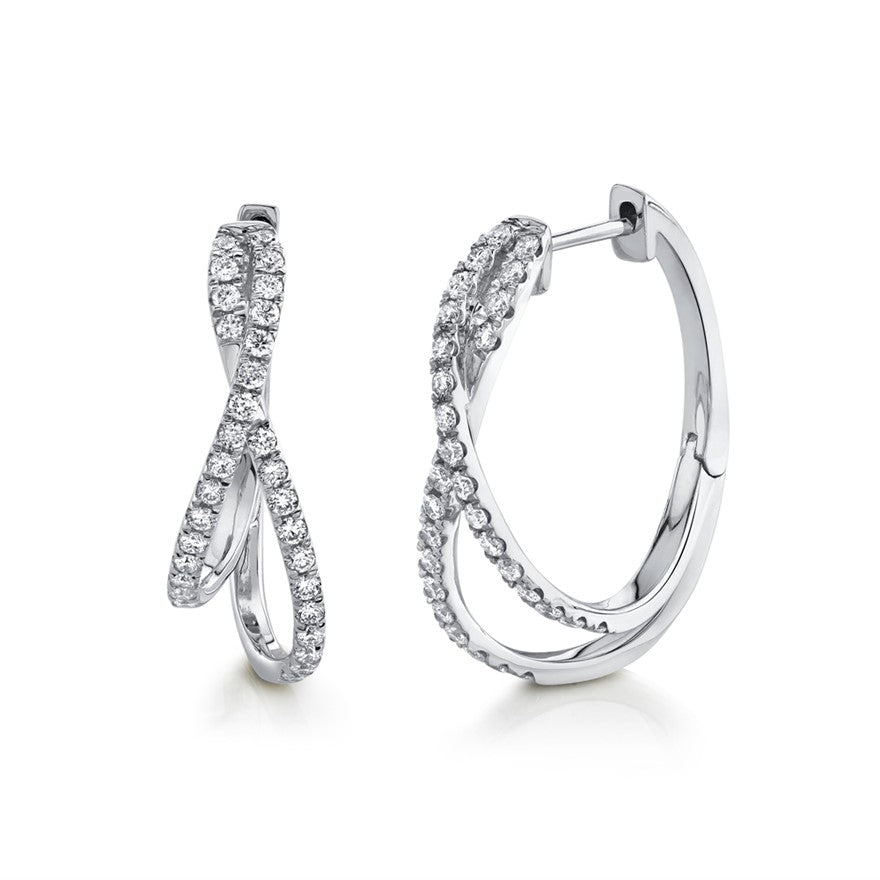 Oval Twist Hoops - Pasha Fine Jewelry