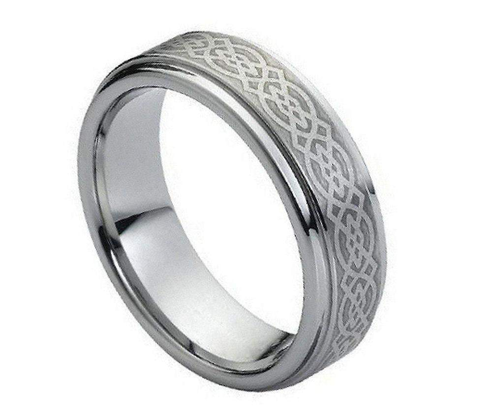Brushed with Celtic Knot - Pasha Fine Jewelry