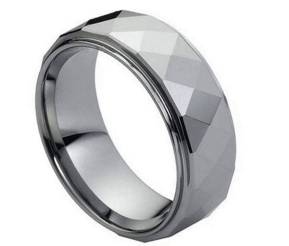 Domed Faceted with Stepped Edge - Pasha Fine Jewelry