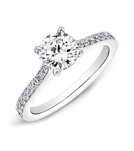 Round Single Row Diamond Ring - Pasha Fine Jewelry