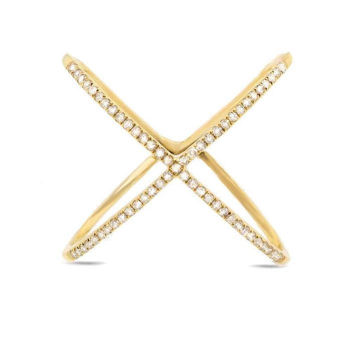 X Ring - Yellow Gold - Rings