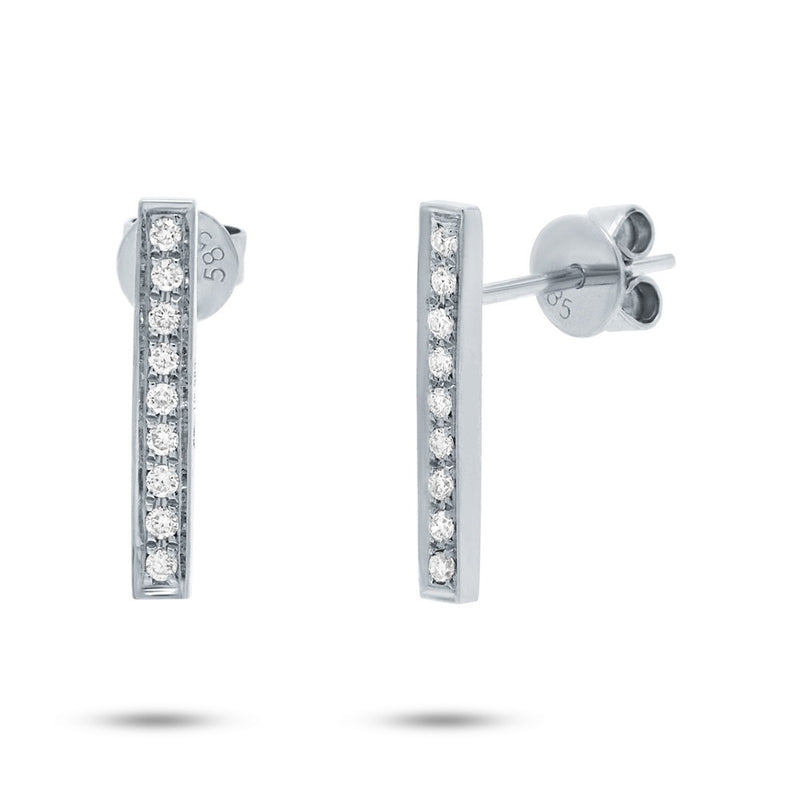 Bar Studs - Pasha Fine Jewelry
