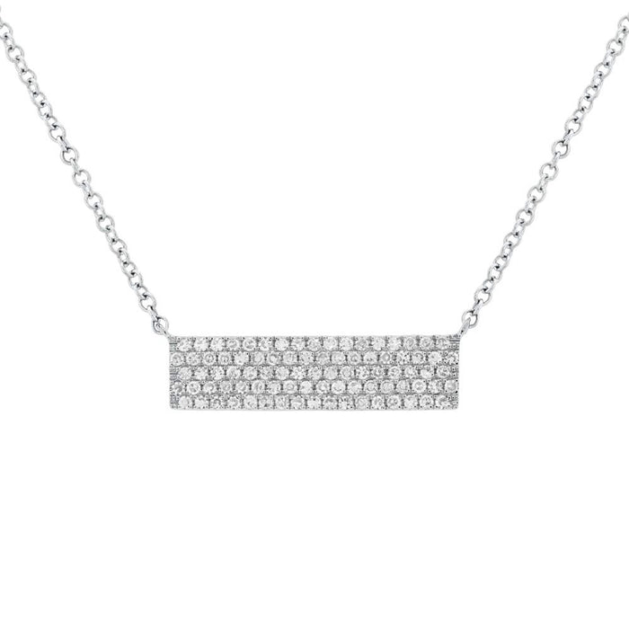 Pave Bar Pendent - Pasha Fine Jewelry