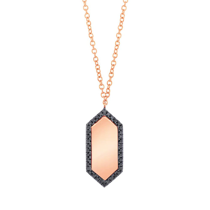 Black Diamond ID Necklace - Pasha Fine Jewelry