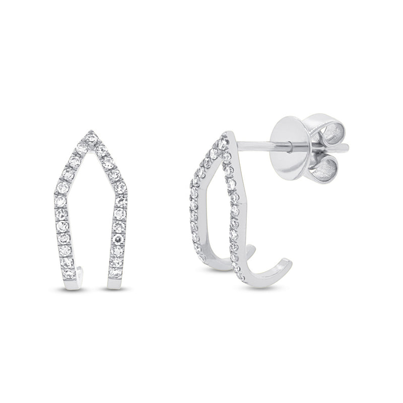 Double Row Studs - Pasha Fine Jewelry