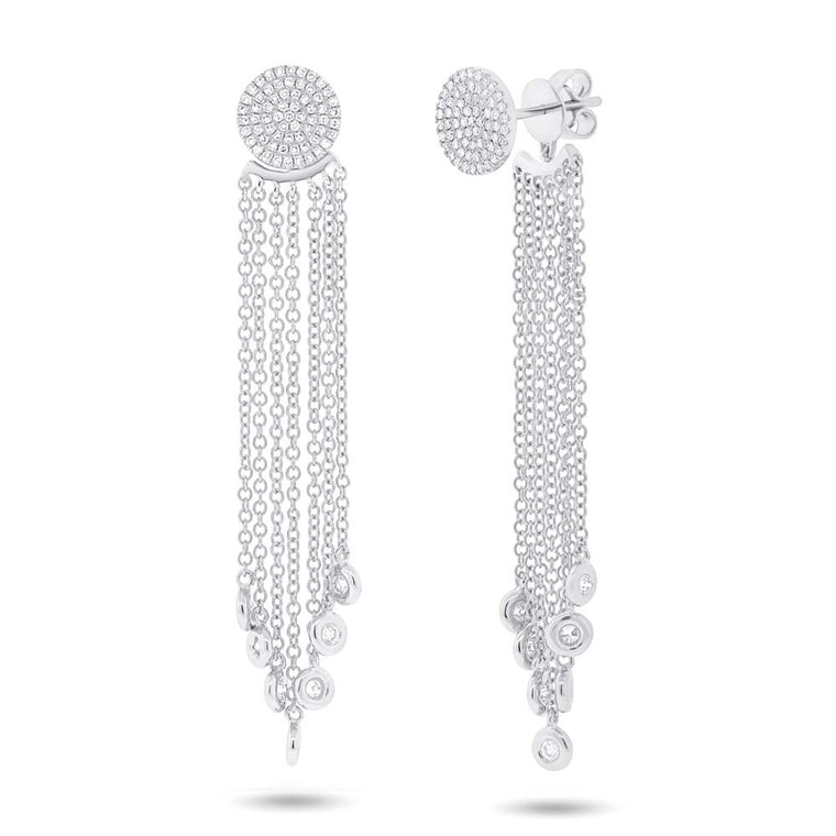 Pave Fringe Earrings