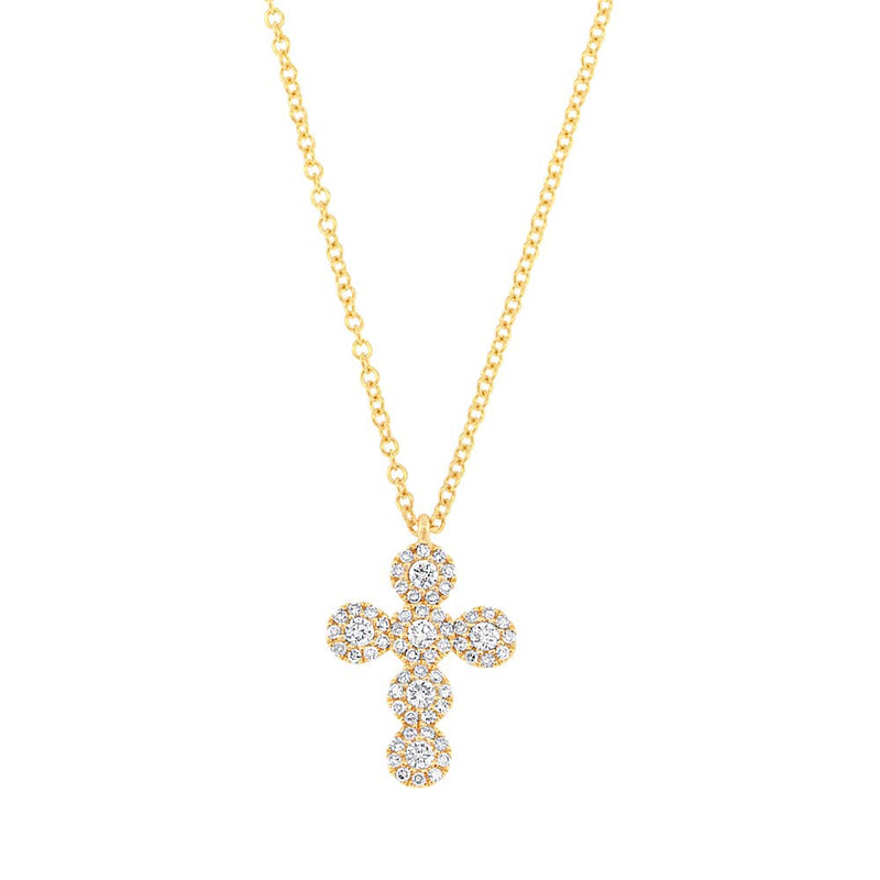 Halo Cross Necklace - Pasha Fine Jewelry