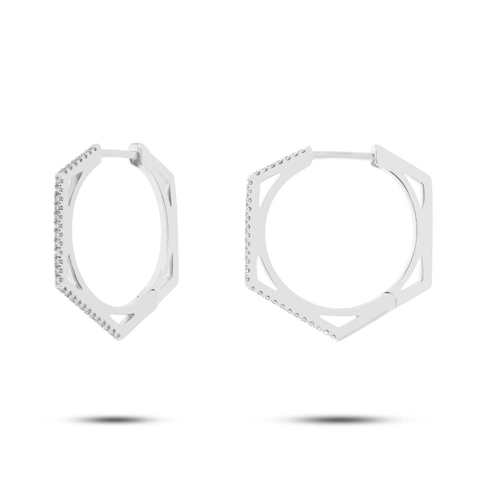 Hexagon Hoops - Pasha Fine Jewelry