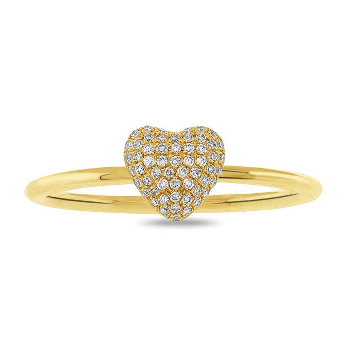 Pave Heart Ring - Pasha Fine Jewelry