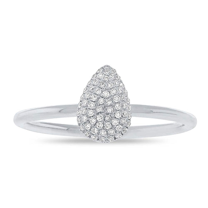 Pave Teardrop Ring