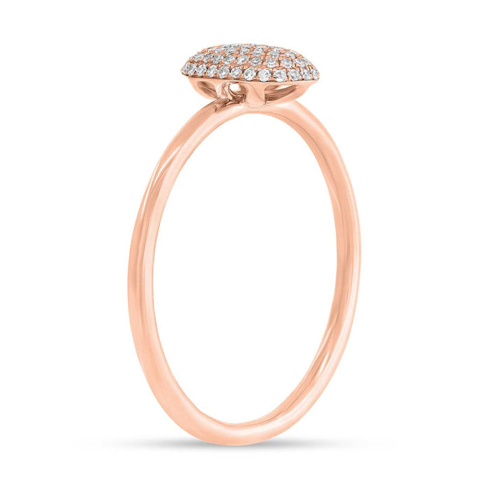 Pave Oval Ring - Pasha Fine Jewelry